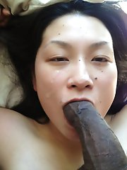Amateur Asian Girl Taking Black Cock